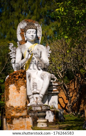 Buddha in Ancient City Park in Thailand