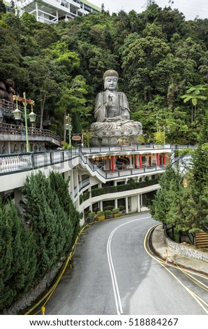 Buddha Statue at Chin Swee Temple, Genting Highland, Malaysia.