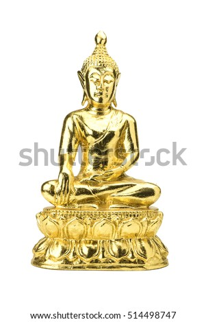buddha statue on a white background.