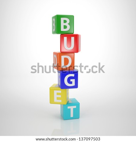 Budget Tower - Series Words out of Letter Dices