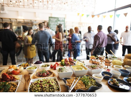 Buffet Dinner Dining Food Celebration Party Concept