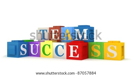 Building blocks spelling out TEAM SUCCESS