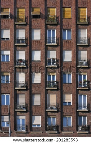 Apartment Building Front new york brick buildings outside fire stock photo 204186154