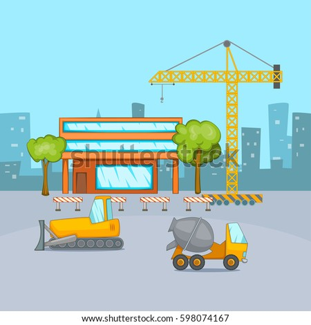 House building construction thin line flat stock vector for New construction building process