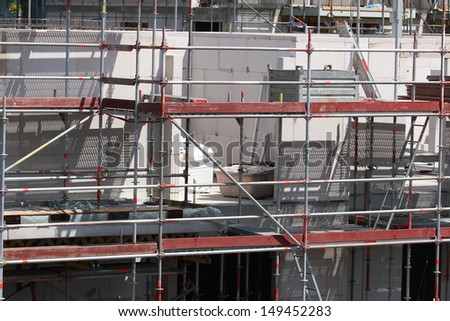 building site, tools and scaffold 3