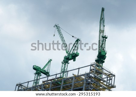 Building site with crane