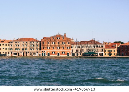 Buildings along the Grand Canal in Venice (Italy)
