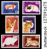 BULGARIA - CIRCA 1983: A set of postage stamps printed in BULGARIA shows cats, series, circa 1983 - stock photo