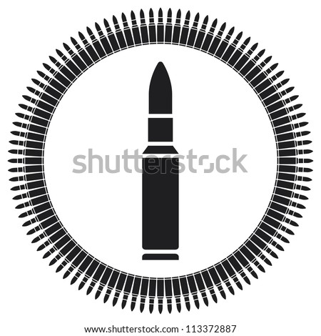 Gun Automatic Rifle Bullet Belts Stock Vector 103422644 - Shutterstock