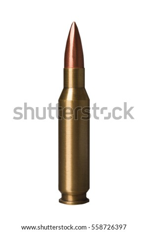 bullet isolated on a white bg photo