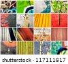 Bunch of abstract walls - stock photo