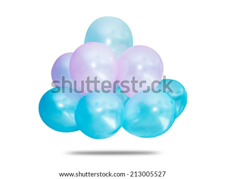 bunch of colorful balloon against white background