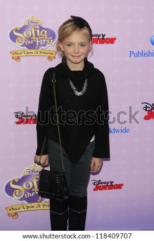 BURBANK - NOV 10: Elsie Fisher at the premiere of Disney Channels' 'Sofia The First: Once Upon a Princess' at Walt Disney Studios on November 10, 2012 in Burbank, California