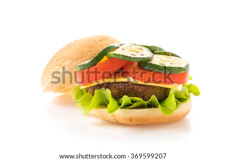 burger on white background - American food