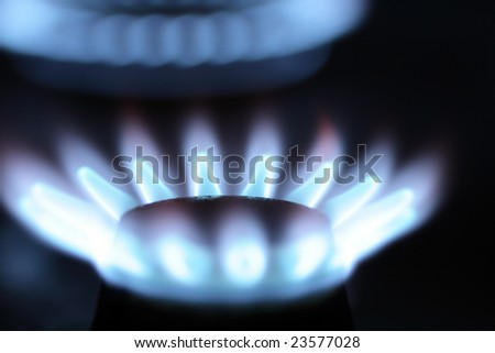 Burned gas range