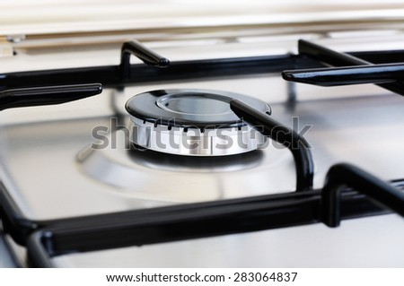 Burners of stainless steel gas cooker, selective focus