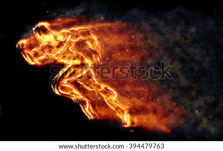 Burning athlete
