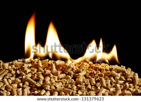 burning wood chip pellets a renewable source of energy becoming