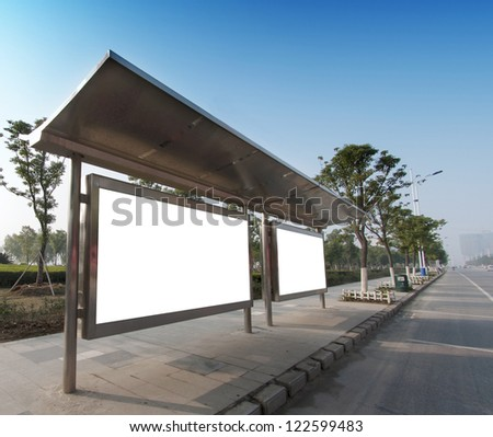 Bus stop billboard on stage
