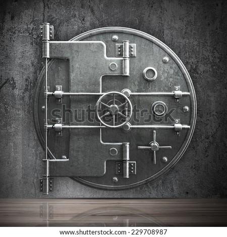 Bank Vault Door Cad Cartoon White Stock Illustration