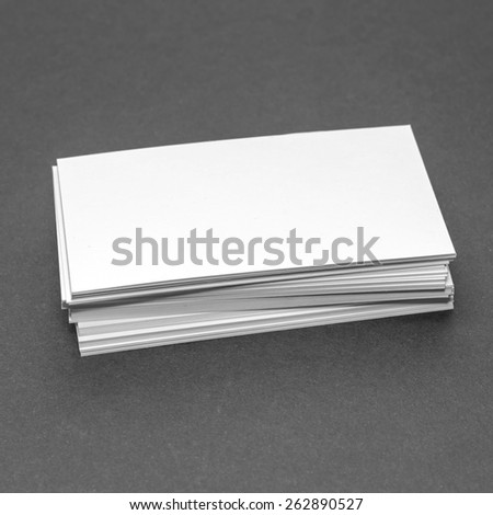 blank business cards identity design corporate stock photo