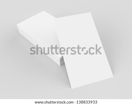 Business cards mockup, blank