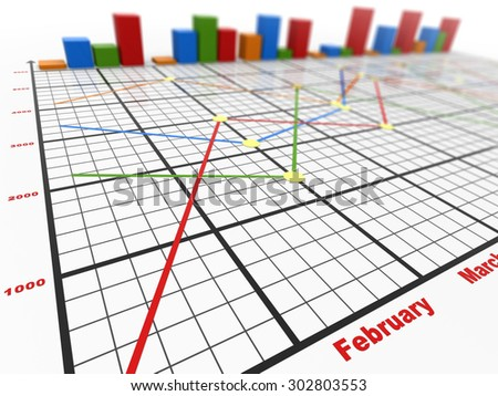 Business chart , This is a computer generated and 3d rendered picture.