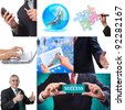 Business collage set of nine pictures - stock photo