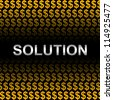 Business Concept Present by Silver Solution Text In Orange Dollar Sign Background - stock photo