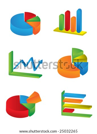Business 3D Charts JPEG (please see portfolio for vector version)