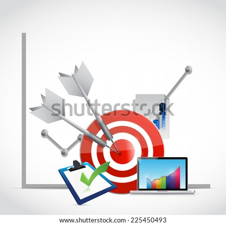 business graph concept illustration design over a white background