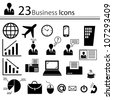 Business icons - stock photo