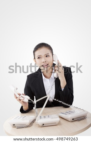 Business lady using the phone