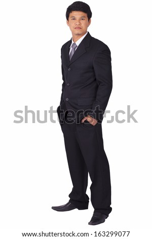 Business man on white background.