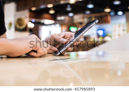 Business man Working With Modern Devices, Digital And Mobile Phone