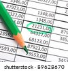 business numbers and pen showing growth accounting or financial success concept - stock photo