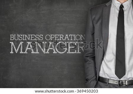 Business operation manager on blackboard