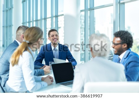 Business people at a meeting in office