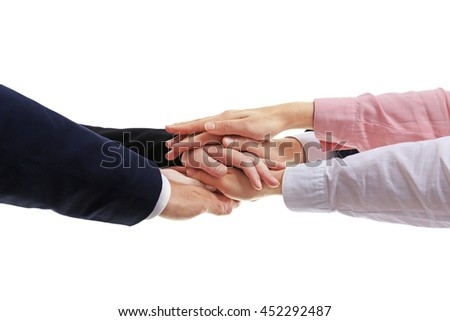 Business people hands. Teamwork concept