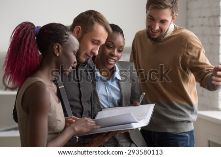 Business People Meeting Communication Discussion Working Office Concept. Multiracial people group