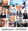 Business people meeting in the downtown. Businessmen and business woman - stock photo