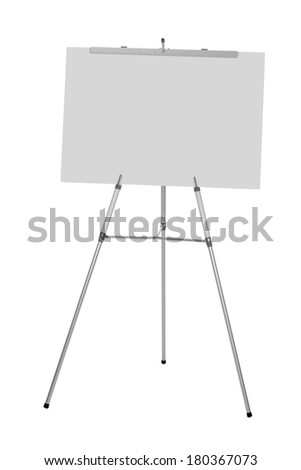 Business presentation easel cut out on white background