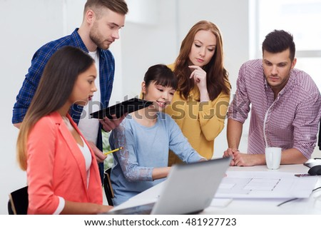 Business startup education people concept creative stock photo business startup education and people concept creative architect team or students with blueprint malvernweather Choice Image