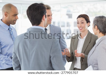 Business team having a conversation in the office