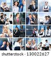 Business, time, money, people and success: collage made of many different pictures - stock