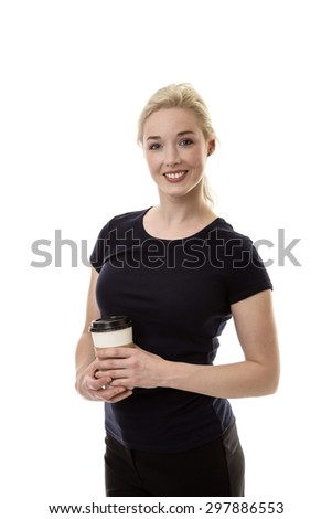 business woman enjoying her morning cup of coffee