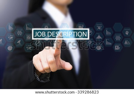 Business Woman Job Description Concept Stock Photo 339286823