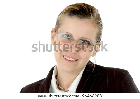 business woman with a smile