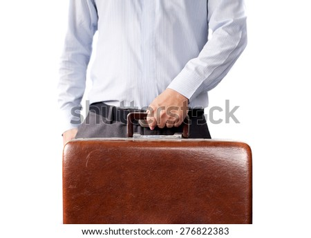 Businessman and his bag