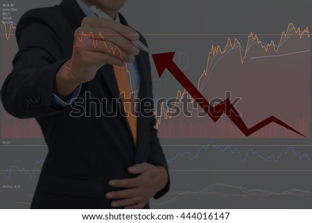 businessman and  Stock market.